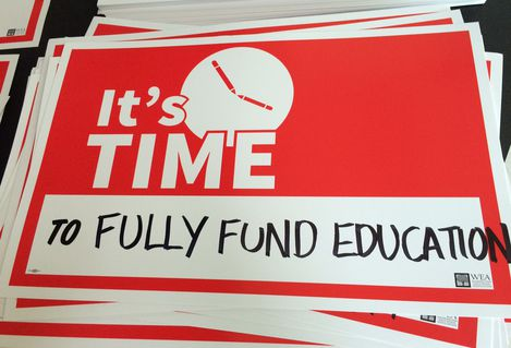 It's Time to Fully Fund Education yard sign