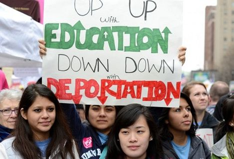 Up with education down with deportation
