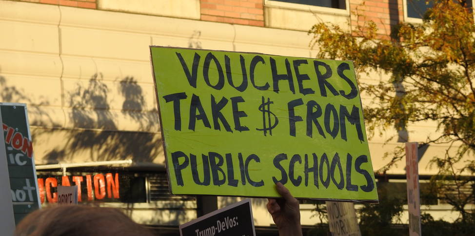 Vouchers take money from schools