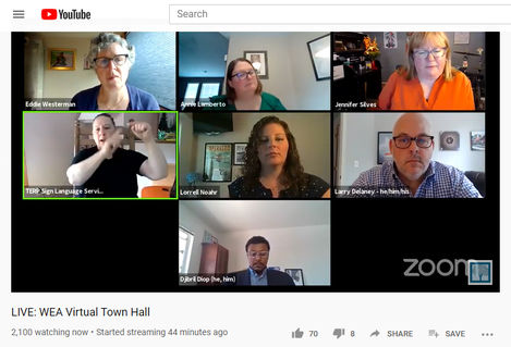 WEA Town Hall screen grab