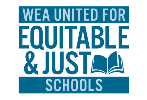 WEA United for Equitable and Just Schools_list image logo