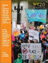 We 2.0 cover image showing school safety rally